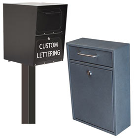 Secure Drop Boxes and Mail Collection Boxes