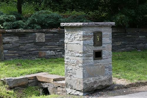 Manchester Column Mount Mailbox Installed