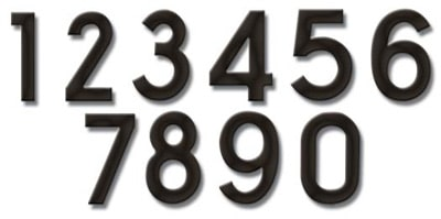 Fuoriserie Ecco Pewter Black 4 Inch House Numbers Product Image