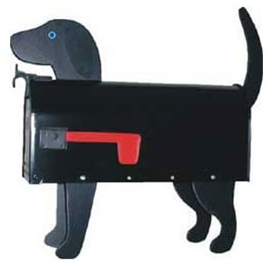 Black Lab Novelty Mailbox Product Image