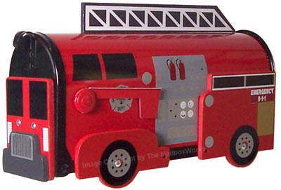 Fire Engine Novelty Mailbox Product Image