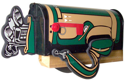 Golf Bag Novelty Mailbox Product Image