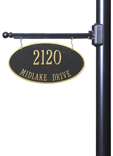 Whitehall 2-Sided Hanging Oval Address Plaque Product Image
