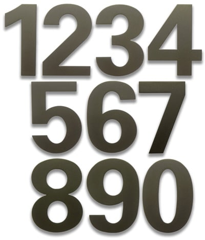 HouseArt Dark Bronze 6 Inch House Numbers Product Image