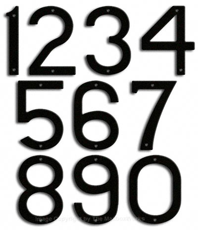 Large Black House Numbers by Majestic 10 Inch Product Image