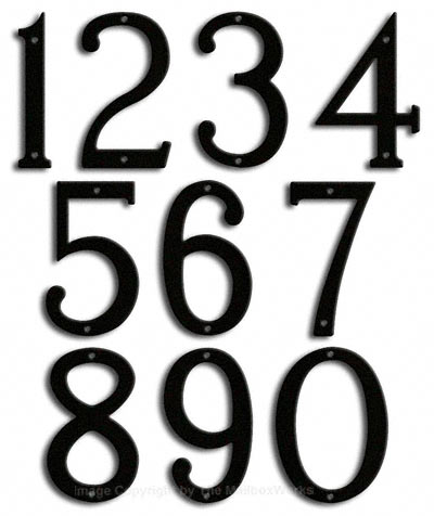 Medium Black House Numbers by Majestic 8 Inch Product Image