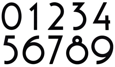 Oversized Black Noble 6 Inch Majestic Address Numbers Product Image