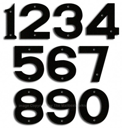 Small Black House Numbers by Majestic 5 Inch Product Image