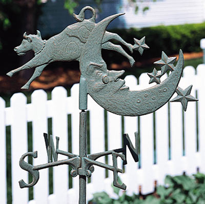 Whitehall Cow Over Moon Garden Weathervane Product Image