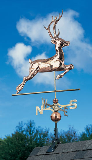 Whitehall Copper Deer Classic Weathervane Product Image
