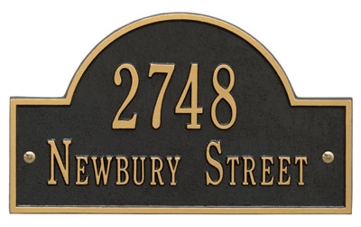 Whitehall Arch Marker Address Plaque for Sale Product Image