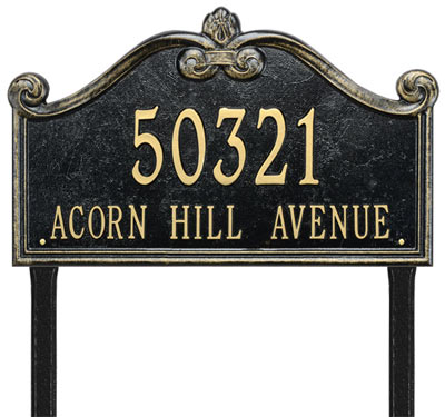 Whitehall Lancaster Rectangle Arch Lawn Address Plaque Product Image