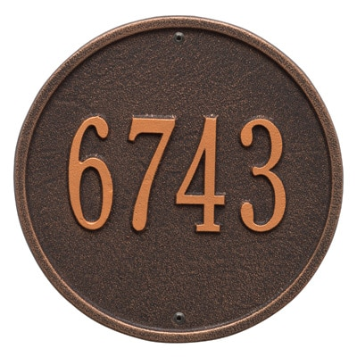 Whitehall Round Aluminum Address Plaque Product Image