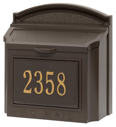 Whitehall Wall Mount Mailbox at Mailboxworks Product Image