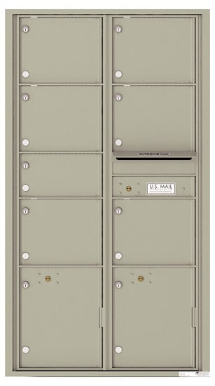 4C16D-07 Front Loading Commercial Surface Mount 4C Mailboxes – 7 Tenant Doors 2 Parcel Lockers Product Image
