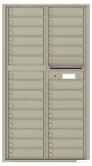 4C Horizontal Mailbox with 29 Doors 0 Parcel Lockers – Front Loading – 4C16D-29 Product Image