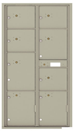 4C16D-8P Front Loading Commercial Surface Mount 4C Parcel Lockers – 8 Parcel Lockers Product Image