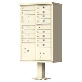 Florence 16 Door CBU Mailboxes Sandstone