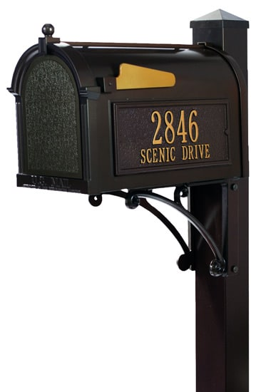 Mailbox with Post Selection - Curbside Mailboxes and Posts