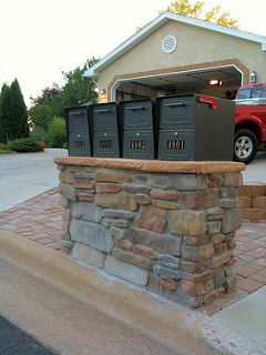 Oasis Mailbox Installed View