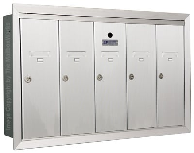 Anodized Aluminum Florence 5 Door Vertical Mailbox Product Image