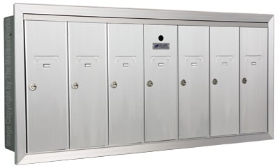 Anodized Aluminum Florence 7 Door Vertical Mailbox Product Image