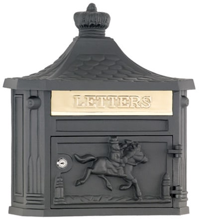 Victorian Locking Wall Mount Mailbox Product Image