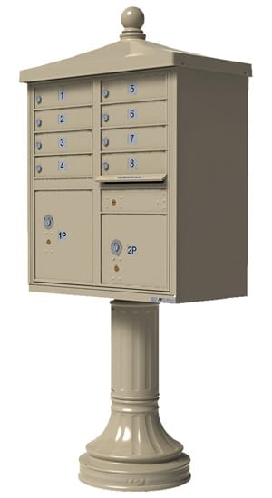 Florence Traditional Vogue Accessories for 8 or 12 Door CBU Mailboxes Product Image
