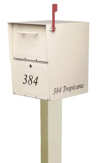 Large Oasis Locking Mailbox Standard Post
