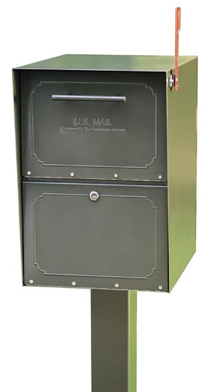 Medium Oasis Locking Mailbox Standard Post