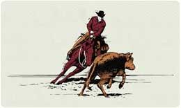 Bacova Mailbox Cutting Horse 10424