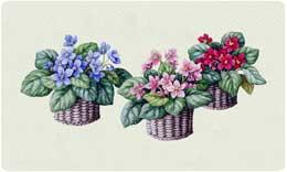 Bacova Mailbox Violet Baskets 10091