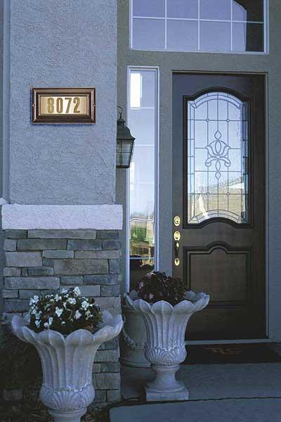 QualArc Edgewood Lighted Address Plaque Installed