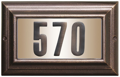 QualArc Edgewood Large Lighted Address Plaque Product Image