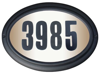 QualArc Edgewood Oval Lighted Address Plaque Product Image