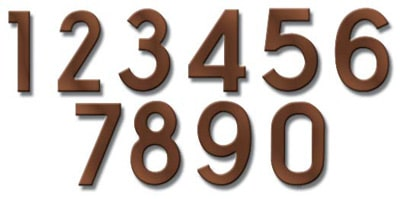 Fuoriserie Ecco Antique Copper 4 Inch House Numbers Product Image
