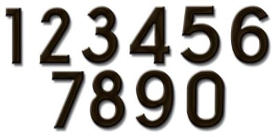 Fuoriserie Ecco Bronze 4 Inch House Numbers Product Image
