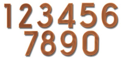 Fuoriserie Ecco Copper 4 Inch House Numbers Product Image
