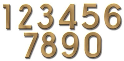 Fuoriserie Ecco Brass 4 Inch House Numbers Product Image