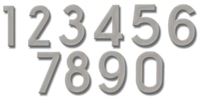 Fuoriserie Ecco Nickel 4 Inch House Numbers Product Image