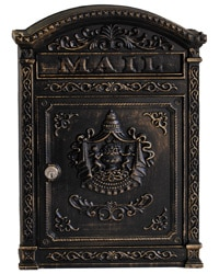 Ecco 6 Wall Mount Mailbox Bronze
