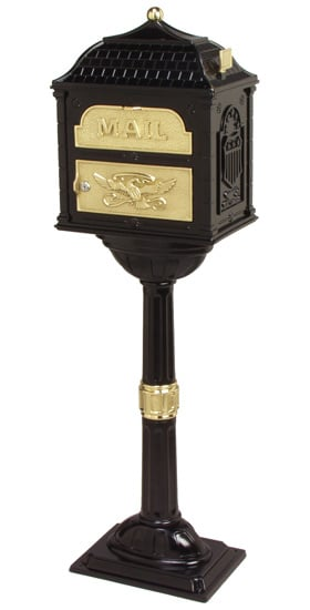 Classic Locking Mailbox with Pedestal Post Product Image