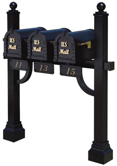 Keystone Signature Series Mailboxes with Tri Mount Post Product Image