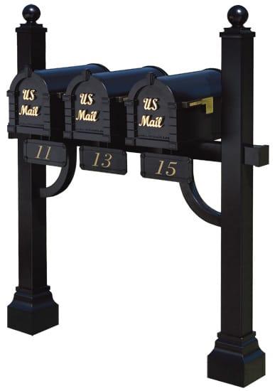 Keystone Signature Mailboxes Tri Mount Post