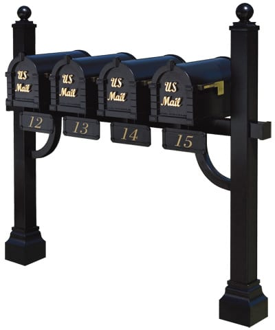 Keystone Signature Mailboxes Quad Mount Post
