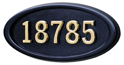 Gaines Large Oval Wall Address Plaque Product Image