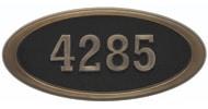 Gaines Large Oval Black Antique Bronze