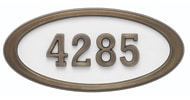 Gaines Large Oval White Antique Bronze