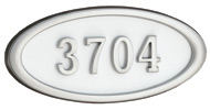 Gaines Large Oval White Satin Nickel