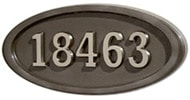 Gaines Large Oval Bronze Nickel Numbers